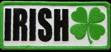 Irish Clover EMROIDERED IRON ON MC  BIKER PATCH