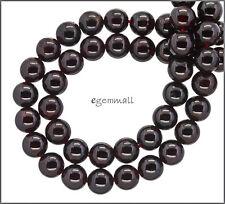 """15.7"""" Red Garnet Round Beads ap. 9mm #67097"""