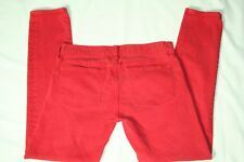 J. Crew Jeans Toothpick 25 Ankle Skinny Stretch Red Style# 62443