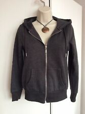 Ladies Marl Grey Zip Hoodie Size 8 Primark