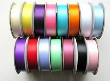 Double Sided Satin Ribbon Full Rolls Choice of 15 Colours and 5 Widths