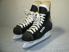 BAUER CHARGER BLACK LEATHER HOCKEY ICE SKATES / SIZE US 4 D / EUR 36 BOY'S