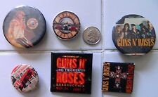 RARE GUNS N ROSES BUTTONS & PROMO BANDANA LOT/VINTAGE & 2014 HARD ROCK TOUR/KENZ