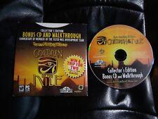 Immortal Cities Children of the Nile CE Bonus CD and Walkthrough pc game rare