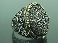 Vav Design Men's Ring Sz 11 Turkish Handmade Jewelry 925 Sterling Silver