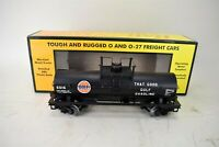 MTH Rail King O and O-27 Freight Car Gulf Tank Car #30-73477 IOB