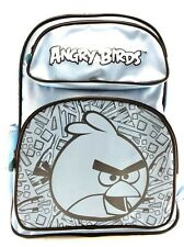 "New Rovio Angry Birds Canvas Shine Blue 16"" School Backpack"