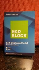H&R BLOCK Self-Employed/Rental Tax Software Premium 2019 PC/MAC DISK