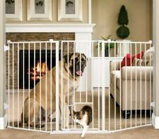 Carlson Flexi Gate Extra Tall 38 in.Walk-Thru Gate with Pet Door 1510HPW dog cat