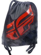 """Fly Racing Quick Draw Bag Cinch Sack Motorcycle Black/Red 28-5150 15"""" W x 18"""" H"""