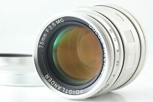 【 Exc+5 】 Voigtlander Color Heliar 75mm f/2.5 MC Lens for L39 Leica From Japan
