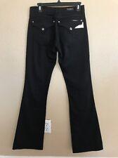 New DAVID KAHN Nikki Jeans Black Low Rise Boot Cut W Flat PKTS Size 29x35
