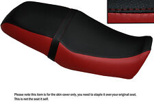 DARK RED & BLACK CUSTOM FITS YAMAHA SRV 250 DUAL LEATHER SEAT COVER