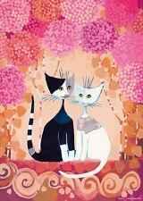 Puzzle romance, 1000 piezas, Rosina wachtmeister, gatos, plata diapositivas presión, heye