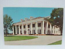 Vintage Governor's Mansion Baton Rouge Louisiana Postcard Driveway View