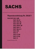 Sachs 50 ccm 50/2 2-Gang-Modelle Reparaturanleitung Werkstatthandbuch Handbuch