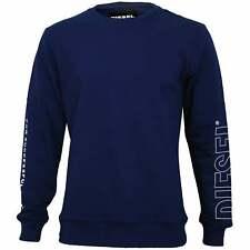 Diesel Sleeve Logo Men's Sweatshirt, Blue
