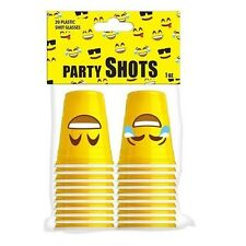 1 Ounce Smiley Face Emoji Plastic Party Shot Cups 1 Pack Of 20