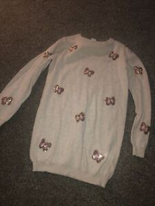 Girls sequin butterfly jumper dress, age 7-8, new without tags BNWOT