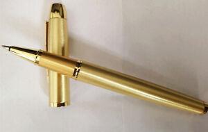 Parker IM Series Golden Color Golden Clip 0.5mm Fine Nib Rollerball Pen No Box