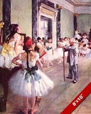 THE BALLET DANCE CLASS BALLERINA DEGAS OIL PAINTING ART REAL CANVAS GICLEE PRINT