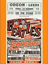 "Beatles LEEDS 16"" x 12"" Photo Repro Concert Poster"
