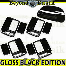 1999-2007 Superduty 4DR GLOSS BLACK Door Handle Covers 1KH+Tailgate Cover no KH
