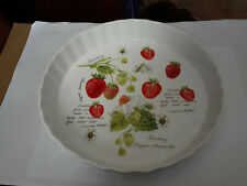 Kent Pottery Pie Plate Strawberries 9 Inches