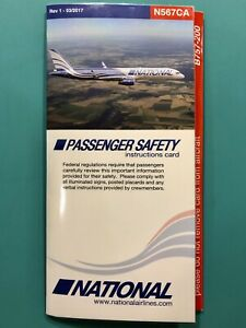 NATIONAL AIRLINES SAFETY CARD--757#567