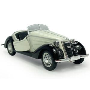 1:32 Vintage 1937 Audi Wanderer W25K Roadster Model Car Diecast Vehicle White