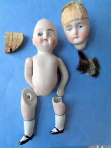 Miniature Antique Bisque German Doll Parts