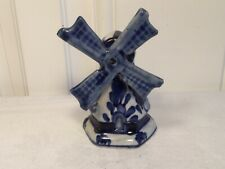 Delft Blue Hand Painted Windmill