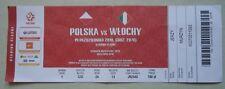 TICKET Nation League 14.10.2018 Polen Polska Polen - Italien Italy Italia