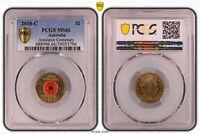 2018 Two Dollar Armistice Centenary Australian $2 PCGS Graded MS66