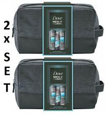 2 x Dove Men+Care Geschenkset Duschgel Shampoo Deo Deospray Kulturtasche Beutel
