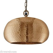 SEARCHLIGHT 2094-32CU QUALITY HAMMERED COPPER ELIPSE BEATEN PENDANT LIGHT. BNIB