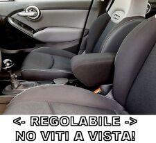 bracciolo regolabile per Fiat 500X tessuto nero PROMO e ORIGINALE WOOD COMPANY