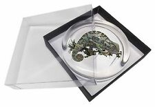 Chameleon Lizard Glass Paperweight in Gift Box Christmas Present, AR-L5PW