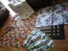 Vtg Lot Fiberglass Curtains Drapes Mid Century Pinch Pleat Pair & 3 Panels