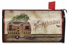 Merry Christmas Camper Magnetic Mailbox Cover Primitive Holiday Standard 00004000