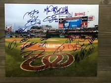 2018 WASHINGTON NATIONALS team signed 11x14 photo ~ 22 sigs ~ STRASBURG~SCHERZER