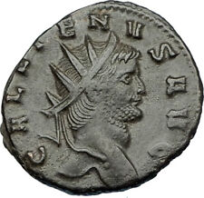 GALLIENUS son of Valerian I 267AD Authentic Ancient Roman Coin GOAT i65643