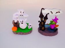 Lots 2 Solar Powered Dancing Halloween Swinging Ghost Witch