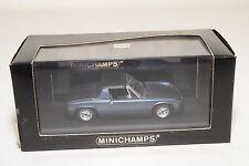 . MINICHAMPS PORSCHE CARRERA 914 HARDTOP 1969-73 METALLIC BLUE MINT BOXED RARE