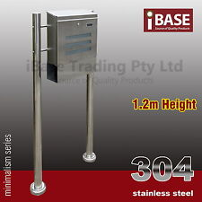 304 STAINLESS STEEL TOWNHOUSE MAILBOX LETTERBOX MAIL LETTER POST BOX STAND FREE