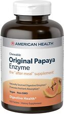 American Health Original Papaya Enzyme Chewable 600 Tablets  Made In USA Exp7/23