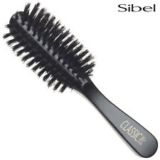 Sibel Classic 58 Half Round Wooden Hair Brush 100% Boar Bristle Natural Wood