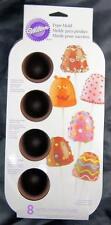 Brownie Cake Pops 8 Cavity Silicone Mold Wilton #4925