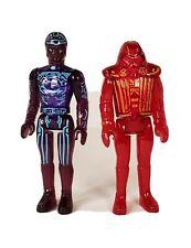 Vintage Tron Tomy 1981 Disney Figure Lot, Tron & Warrior