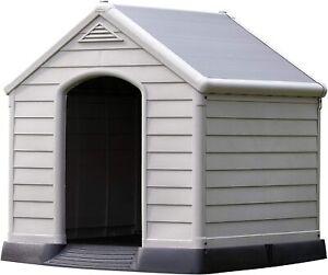 Chalet-Jardin Garden 12-921177 Kennel Dog PVC/Resin 95 x 99 x 99 cm beige/brown